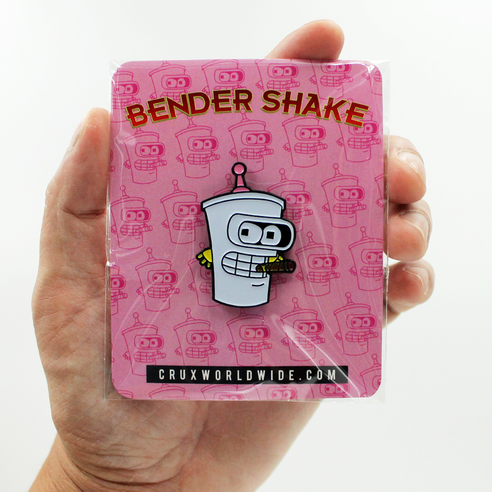 Bender Shake Enamel Pin - 1.5 Inch (38.1 mm)