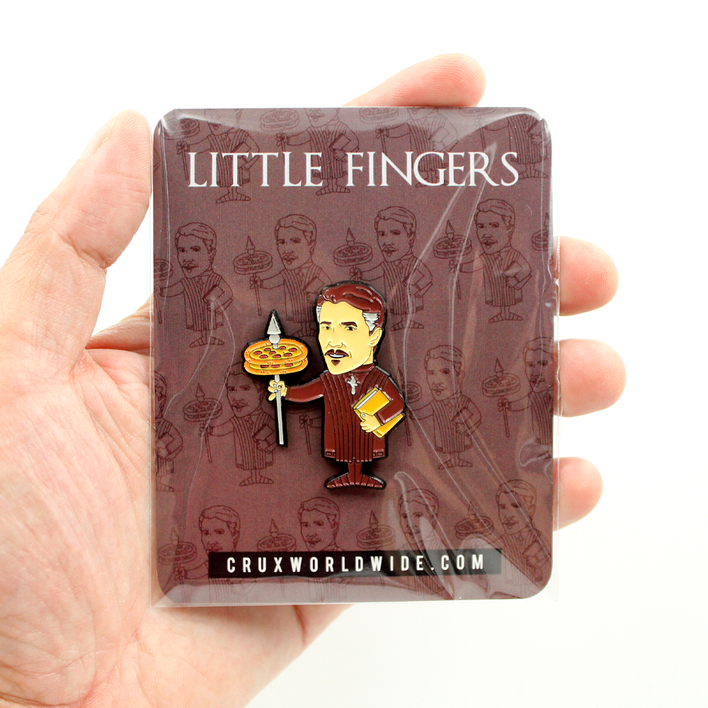 Little Fingers enamel pin - 1.5 Inch (38.1 mm)