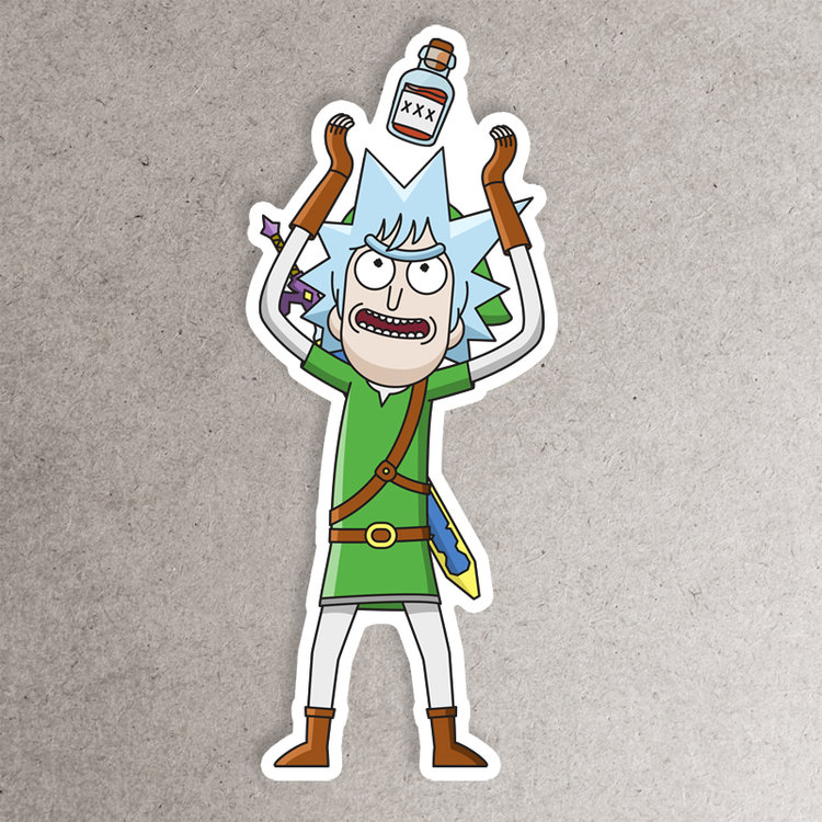 Tiny link sticker