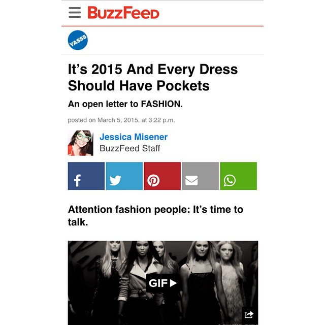 An open letter to @BUZZFEED: that's what we've been sayin'!! #weexist #wehavepockets #hello #overhere #buzzfeed #dresses #dresseswithpockets