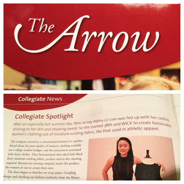 Liz was featured in The Arrow, Pi Beta Phi's alumni magazine, this month! Shout out to all our Pi Phi followers and supporters! 👋 👼