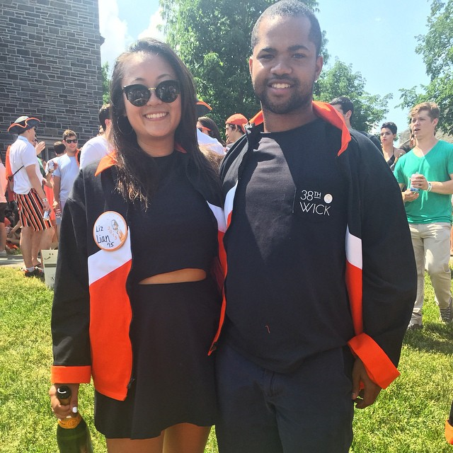 There was no way 38th & WICK wasn't going to make an appearance at #PrincetonReunions this year! The perfect location for the #nostressblackdress and #partyproof tee. Congrats to the Class of 2015! 🐯🎓🎉