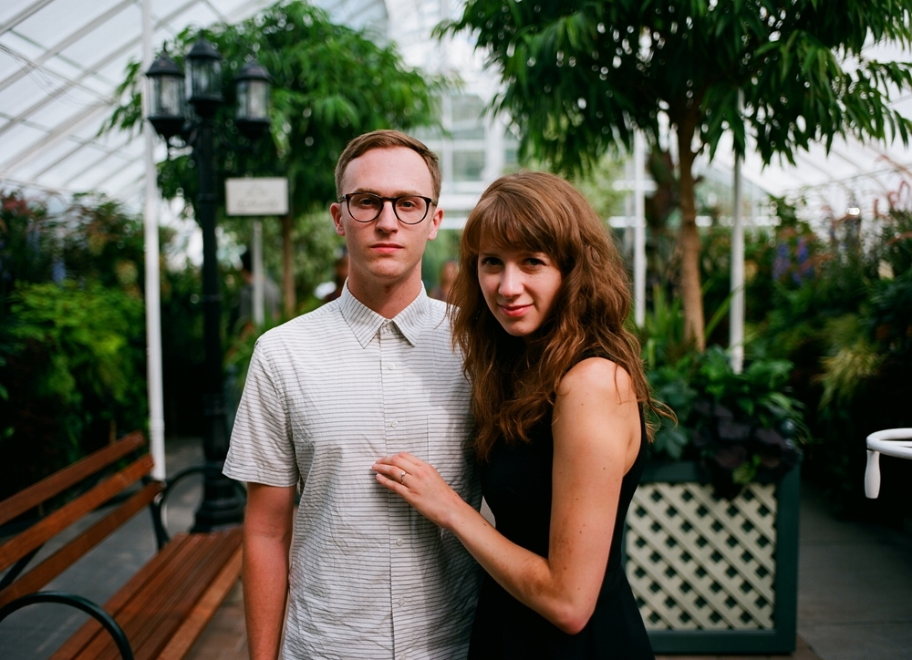 Engagement Photography. Ben proposes to Casey in the Washington Conservatory