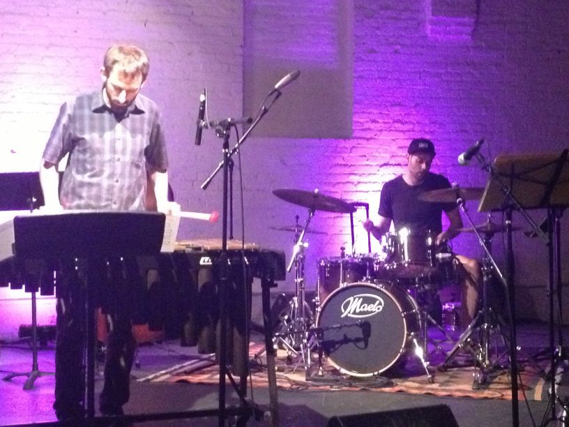 Nate playing with friends at the Shapeshifter Lab in Brooklyn, New York.