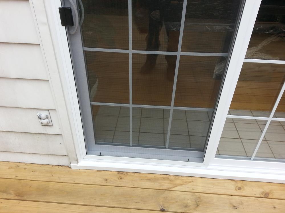 Patio Door In Wood Frame My Handyangel Llc