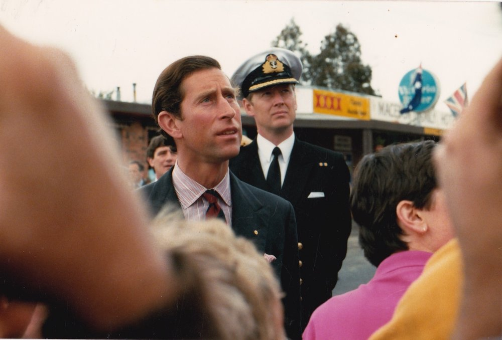 Prince Charles' Visit to this Hotel in 1985. Photo courtesy of Marjorie Judd.