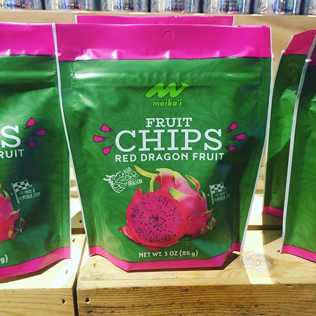 """New find at Foodland from their house brand Maikai: #dragonfruit """"chips"""" which could make for an interesting #cocktail garnish.  #HawaiiBeverage #cocktails #crafcocktails #hawaii #honolulu"""