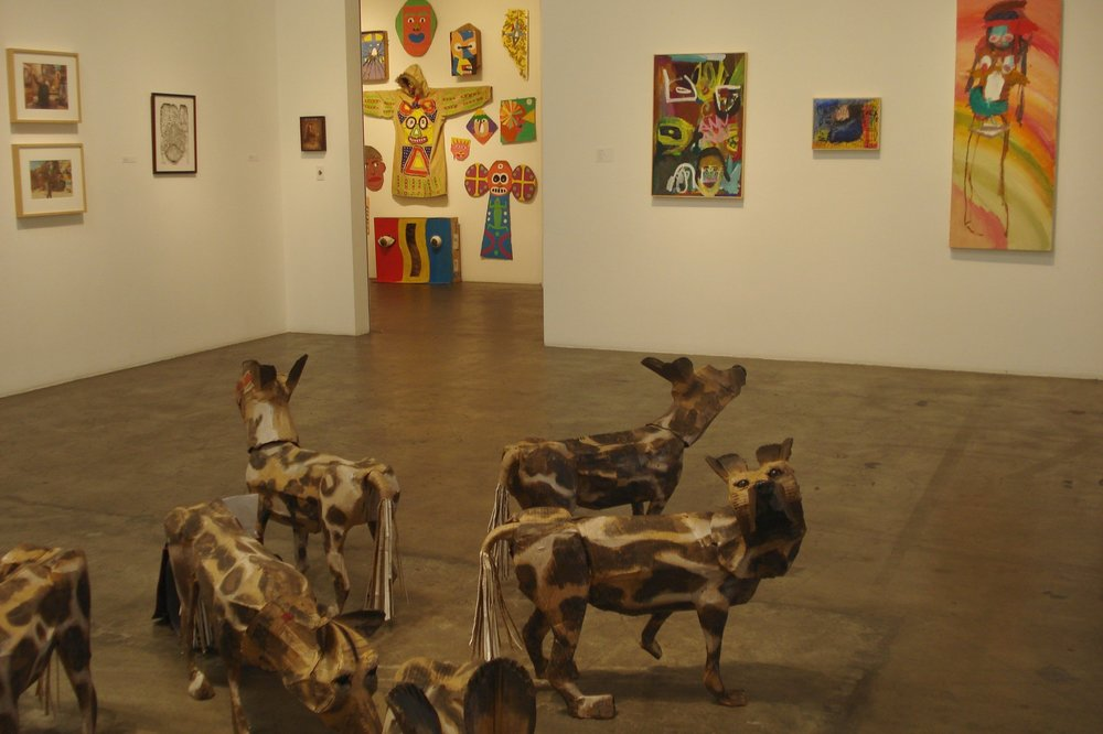 ROB COLLISON WILD AFRICAN CARDBOARD DOGS
