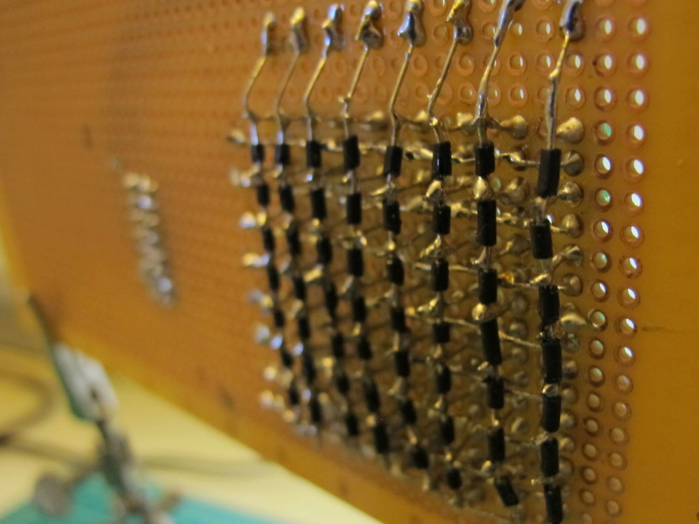 LED matrix back