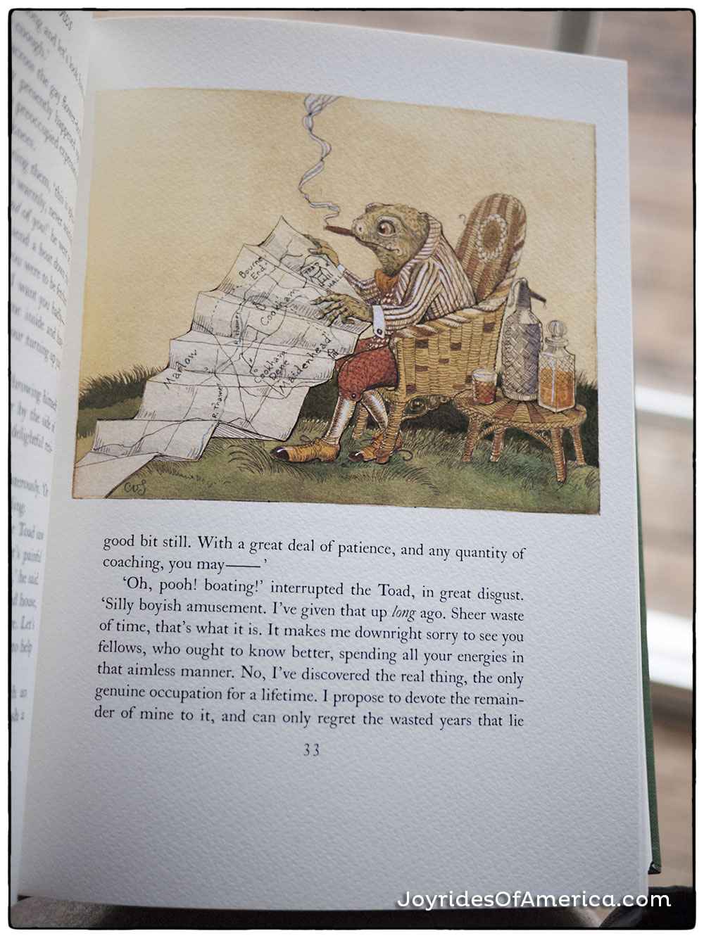 The Wind in the Willows  by Kenneth Grahame, illustrations by Charles van Sandwyk, published by the Folio Society.