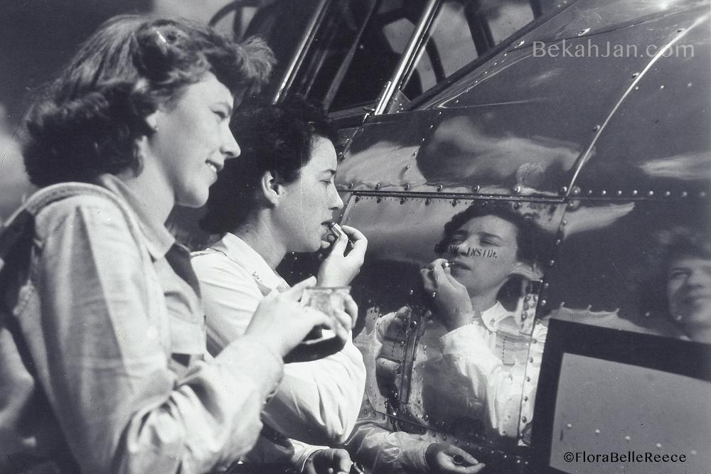 Flora Belle Reece (left)