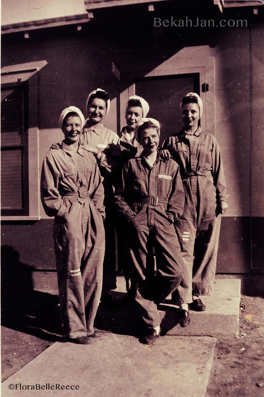 Flora Belle Reece (4th from left)