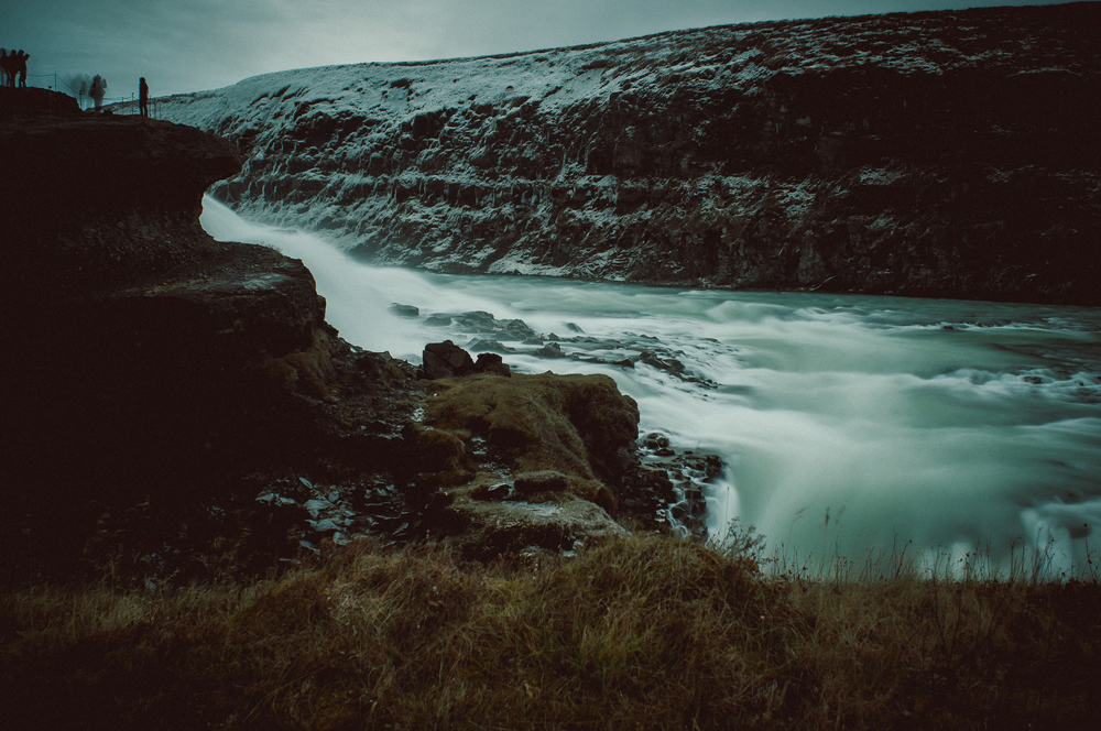Gulfoss from the side, Iceland. Nikon D90 | 24mm | F9 - 13sec - iso200 [+10 stop ND filter}