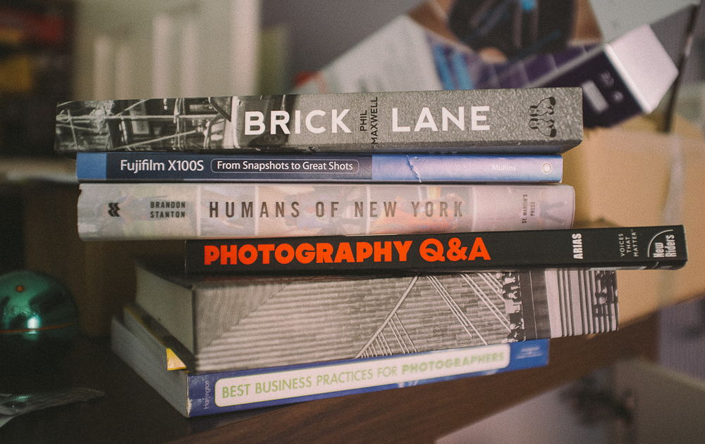 Books. Aimed to inspire and help create, if ever I'm in a creative rut a quick look through these perks me right up.