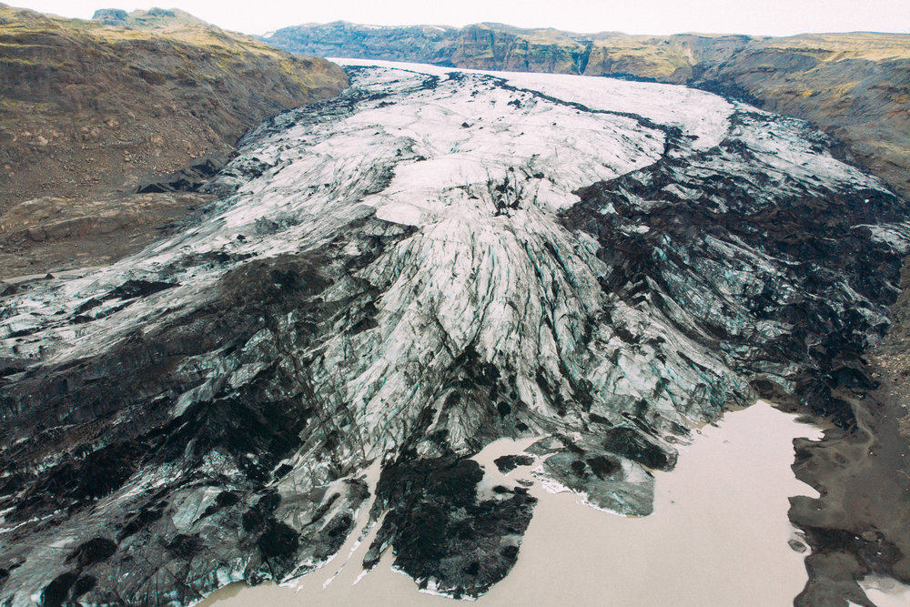 Sólheimajökull Glacier -  [63.5954298,-19.6417821]  DJI Mavic Air Drone