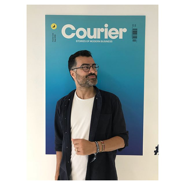 This guy @auntie._.flo is on tour all week! Alongside keeping the @openear_music mission going he has managed to create a full LP out on @brownswood which you should all check out. Pic from our talk at @couriermedia #courierlive event and the artwork for the album which you can swing by the office to see!