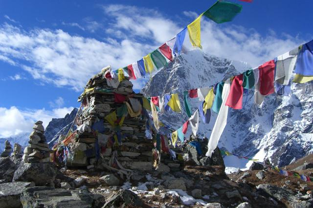 The people who hang these flags are so compassionate: Rainbow Summits. They hang Tibetan Prayer flags atop Everest in honor of those who attempted or committed suicide or fell victims to bullying based on their sexuality.