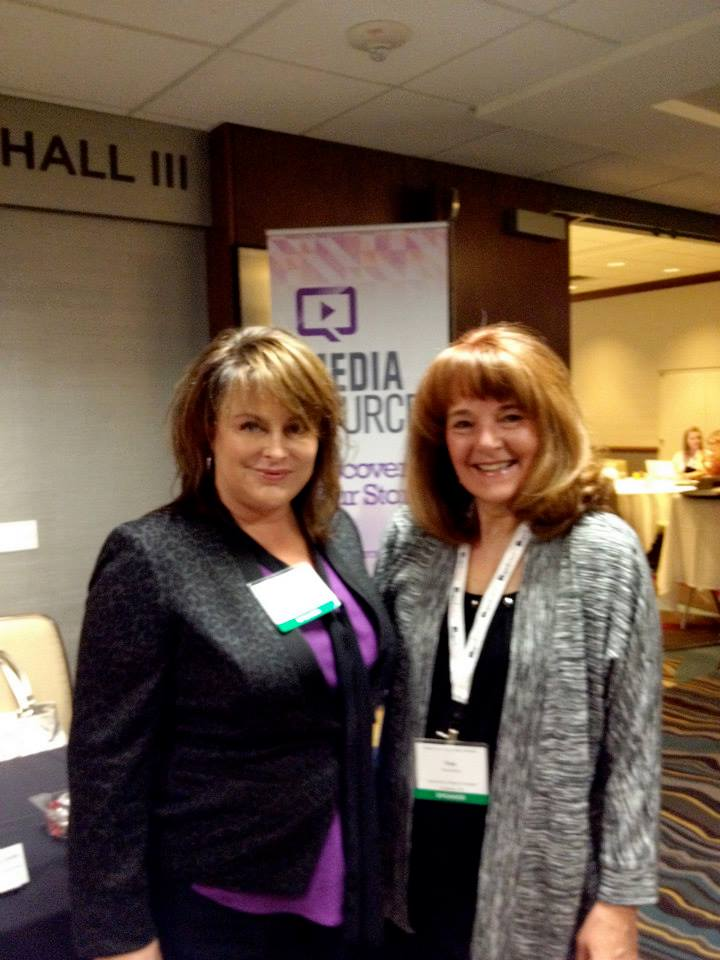 Our president, Lisa Arledge Powell, and Pam Barber of Nationwide Children's Hospital at the 5th Annual Mayo Ragan Social Media Summit last year. Click on the picture to see our full photo album from the event!