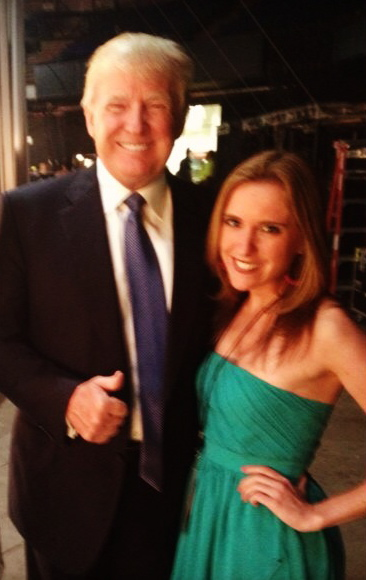 Posing backstage with Donald Trump before the curtains open on the 2013 Miss USA Competition.   The MISS USA Pageants are a Donald J. Trump and NBC Universal joint venture.