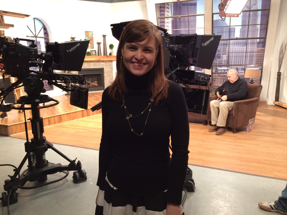 As a former reporter, our Media Relations Manager, Shannon McCormick, loved being back in the studio!