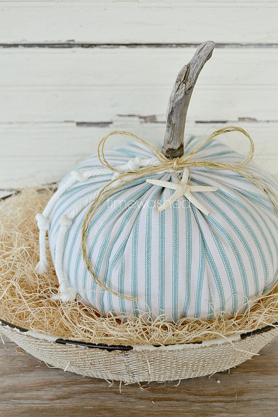 Coastal Cottage Pumpkin by Timewashed