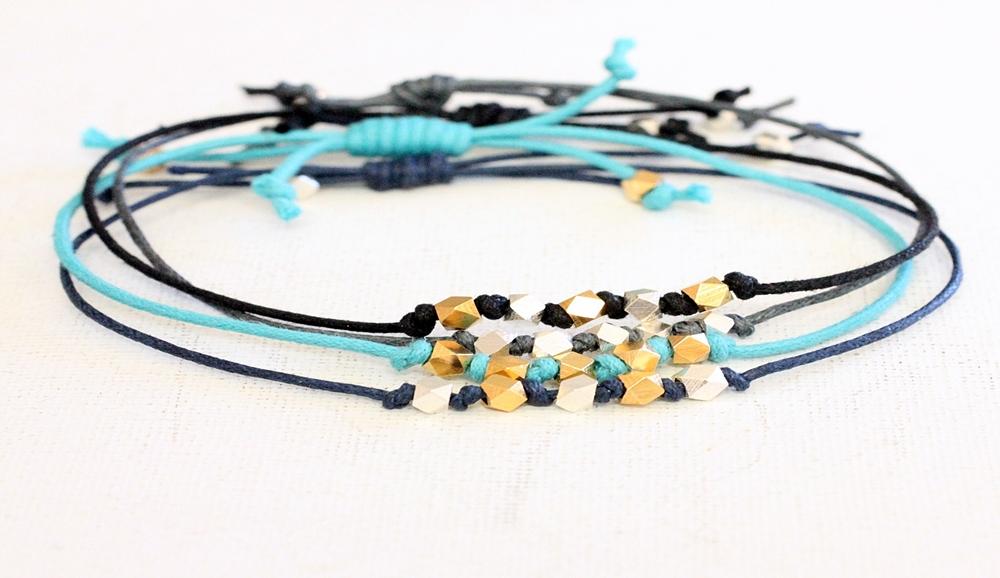 noelle  bracelet five faceted bead wish bracelet by blue sail studios.JPG