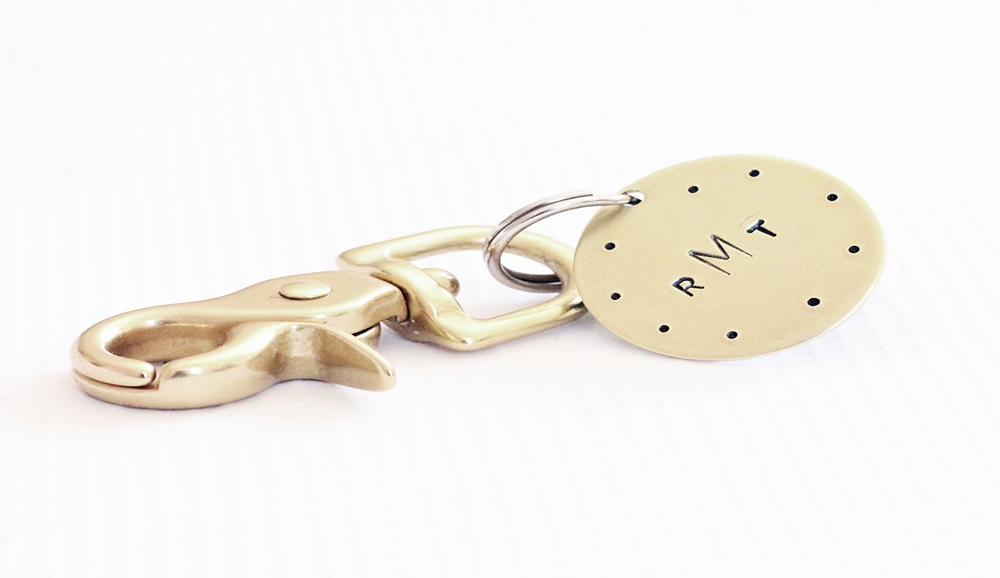 mariners monogram brass key chain.JPG