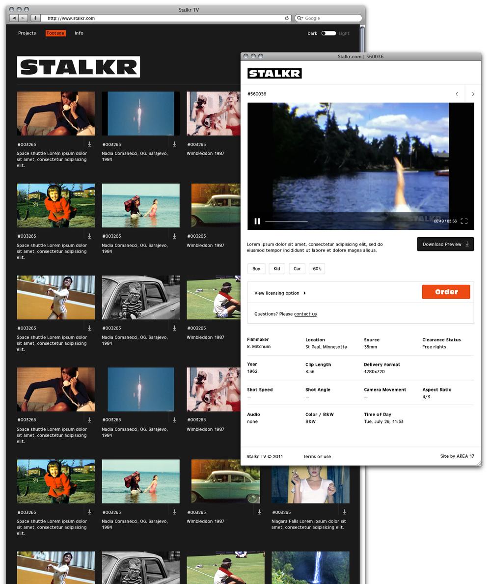 Stalkr.com Black Theme