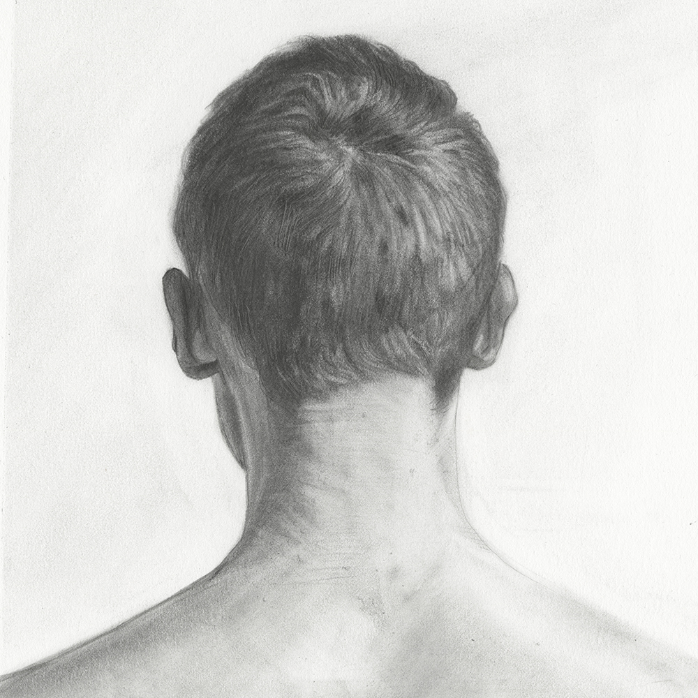 """HERO 15,"" 8"" X 8"", GRAPHITE ON PAPER, 2016."
