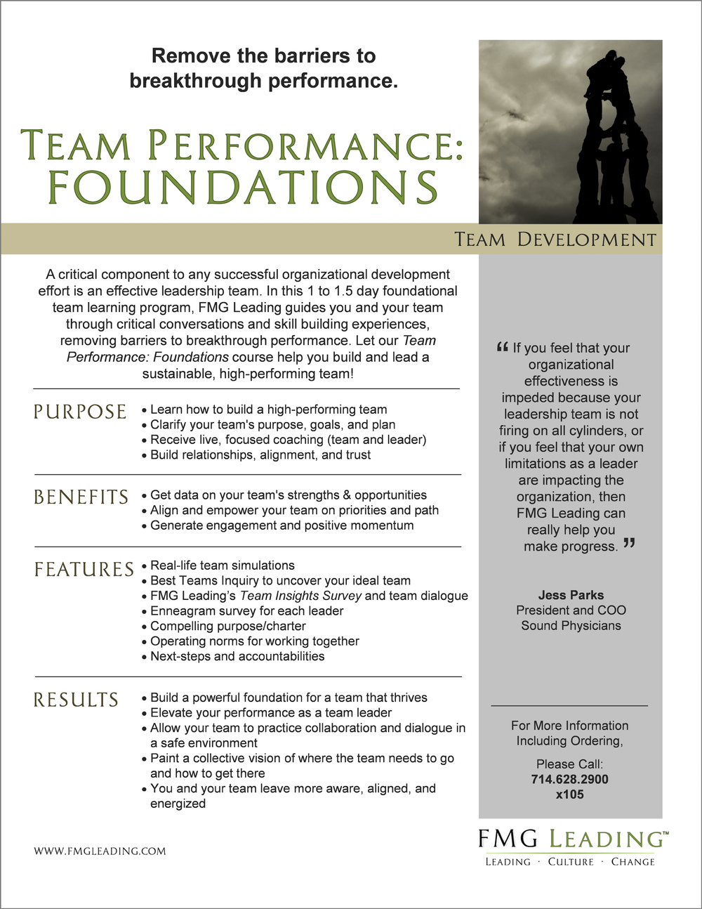 team development fmg leading leading · culture · change click image to more