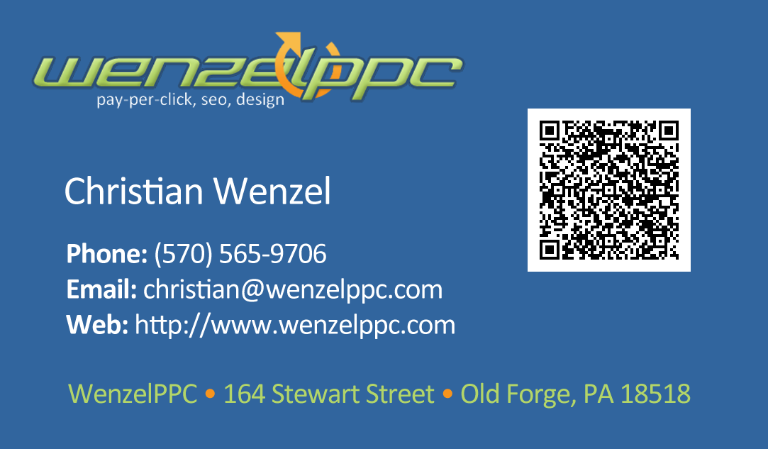 WenzelPPC Business Card