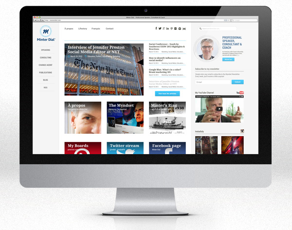 Website : homepage en fullscreen