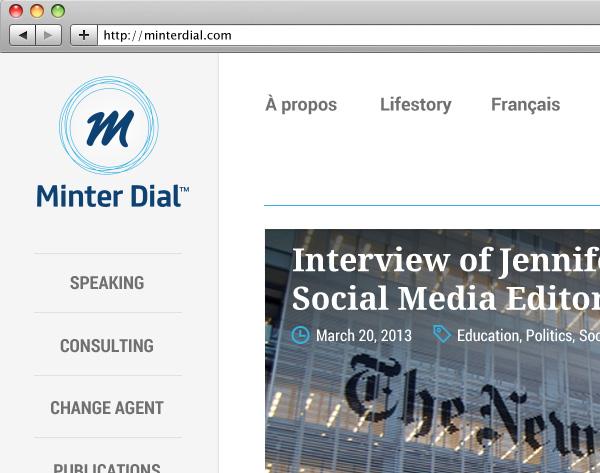 Website : détail homepage