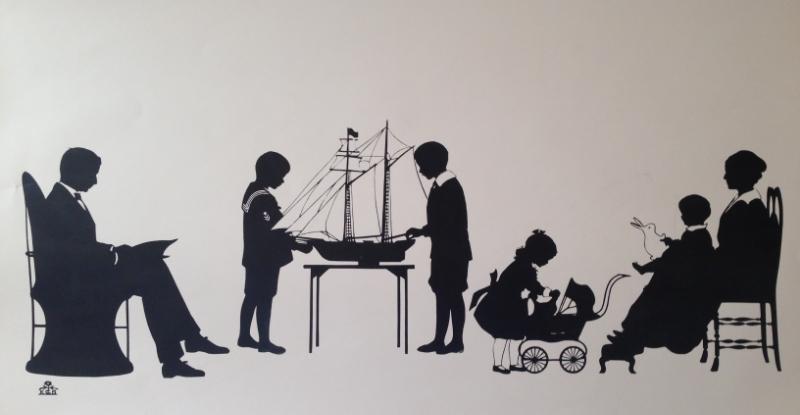 Fiske Family Papercut Silhouette.JPG