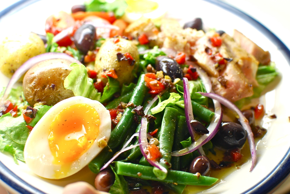 Salad Nicoise with Seared Ahi Tuna Recipe, the love of food blog and recipes