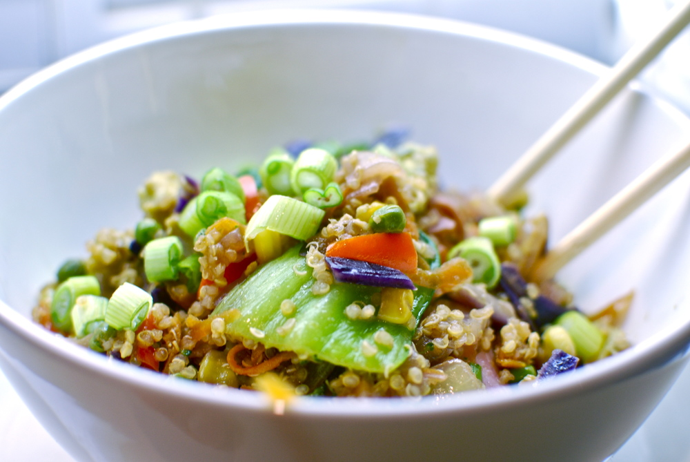 Quinoa Fried Rice Recipe, the love of food blog