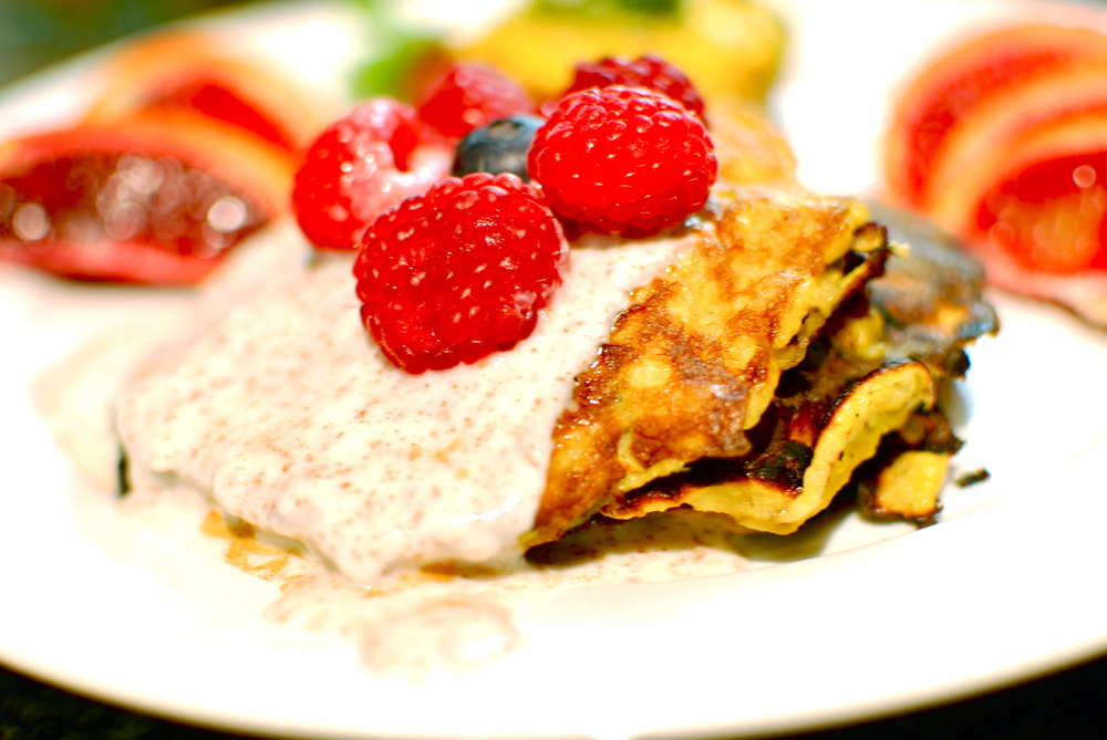 3 Ingredient Pancakes Paleo and Gluten Free Berries and Banana