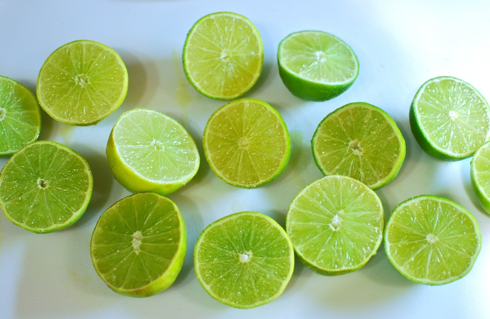 Fresh Sliced Limes Picture- The love of food blog