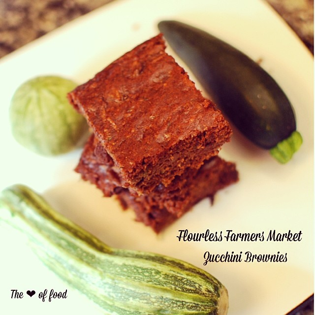 Sunday funday baking inspired by my locals farmers market: Zucchini Brownies. Got to love using locally grown ingredients! I'll post the recipe tomorrow. #theloveofood #realfood #paleo #glutenfree #dairyfree #eatgoodfeelgood