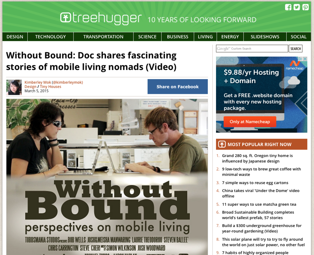Screen capture of Treehugger.com. Click image to read the article.