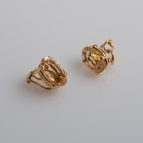 h oval citrine earrings gladstone jewelry