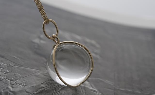 Gladstone rock crystal orb