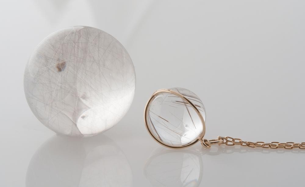 Gladstone Rutilated Quartz pendants
