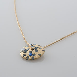 Blue sapphire spinning disc pendant gladstone jewelry polly wales blue sapphire spinning disc pendant mozeypictures Images
