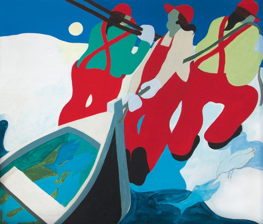 "Winter Blues, 1072,  2015, acrylic on canvas, 24"" x 28"""