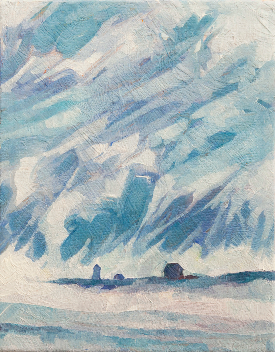 "JILL WHITNEY ARMSTRONG,  Straightsmouth Sea Smoke,    2018, oil on canvas, 5"" x 4"""