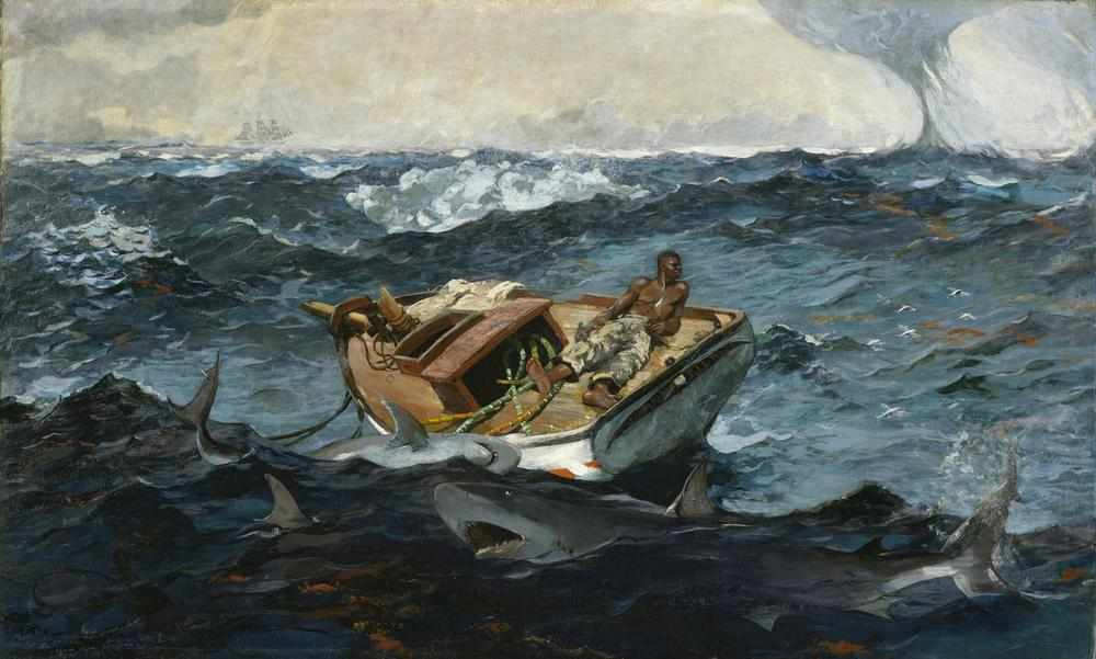 "Winslow Homer, ""The Gulf Stream"" (1899). Oil on canvas; 71.5 x 124.8 cm. Metropolitan Museum of Art"