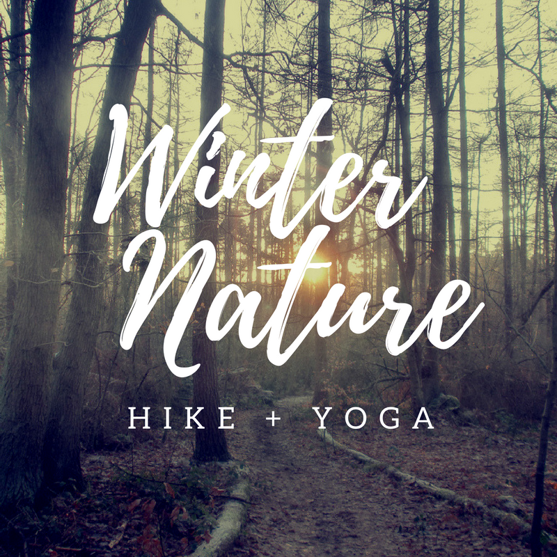 winter yoga hike