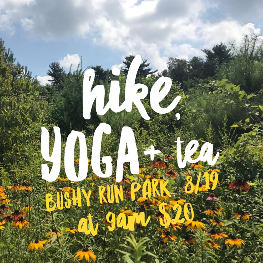 hike yoga & tea