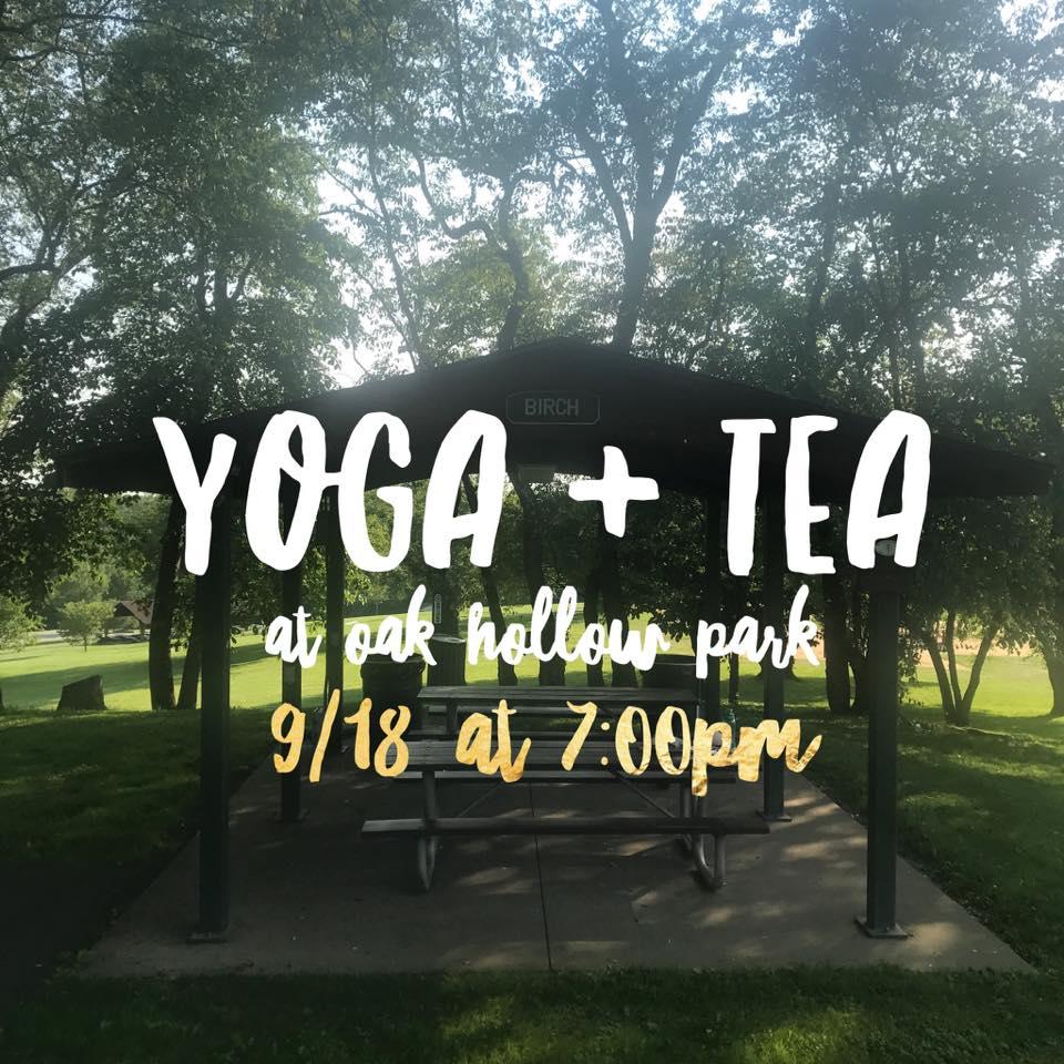 outdoor yoga at Oak Hollow Park
